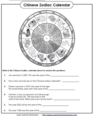 Worksheets Chinese New Year Worksheet chinese new year worksheets