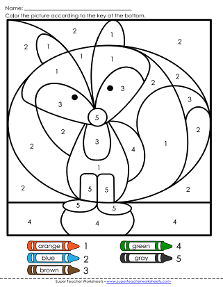 Preschool Color by Number Coloring Pages & Printables | Education.com | 413x321