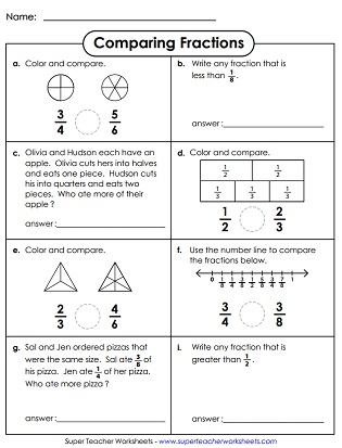 math worksheet : comparing  ordering fractions worksheets  : Ordering Fractions Worksheet