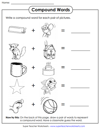 photograph about Printable Compound Word Games referred to as Substance Words and phrases Worksheets
