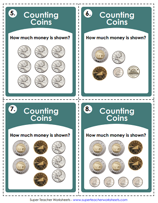 Canadian Money Worksheets (Printable)