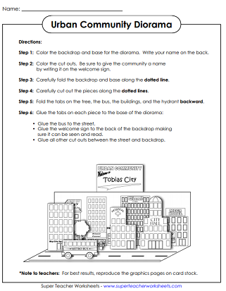Craft Worksheets (Diorama)