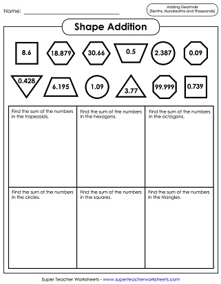 math worksheet : decimal addition and subtraction : Addition And Subtraction Decimal Worksheets