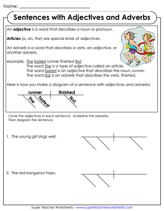 Diagramming sentences grammar worksheets printable ccuart Images