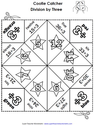 Division worksheets basic for Division facts coloring page