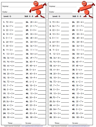 Division Worksheets  Basic