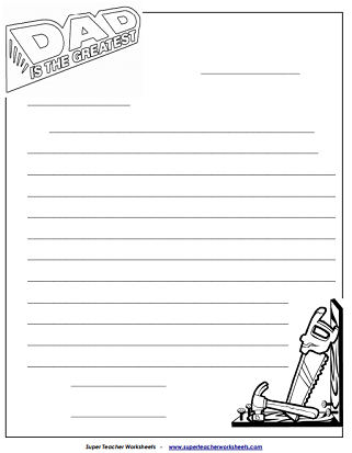 Father's Day Worksheets (Letter)