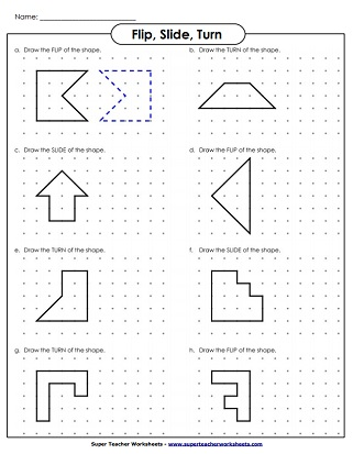 Flip, Slide, Turn - Worksheet