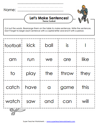 Football Worksheets (Printable)