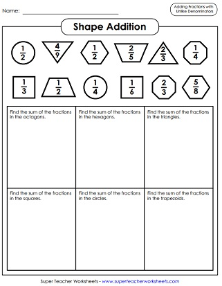 math worksheet : adding and subtracting fractions worksheets : Adding Fractions Worksheets