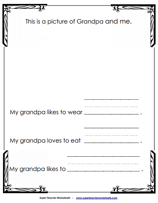 Grandpa Worksheet (Grandparent's Day)