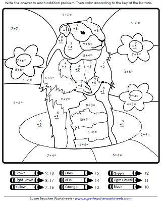 math worksheet : groundhog day worksheets : Math Worksheets For Primary 1