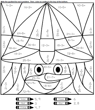 math worksheet : halloween worksheets : Halloween Math Printable Worksheets