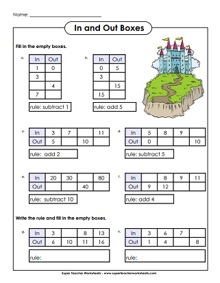 likewise Printable Number Worksheets For Kindergarten Circle The Odd One Out besides input output tables worksheets 8th grade likewise Function Table Worksheets In And Out Bo Math Tables 7 Free moreover Printable math worksheets function table answers   Download them or further Patterns   Function Machine Worksheets   Free    monCoreSheets additionally Input Output Bo moreover  additionally Printable math worksheets function table answers   Download them or further in and out bo math worksheets in addition  further Input Output Bo In And Out Worksheets Times Tables Free Uk moreover 9 Times Table Worksheet   Worksheet   nine times table  maths besides  additionally  further Alge Function Tables Worksheets Table In And Out Boxes Input. on in and out table worksheets
