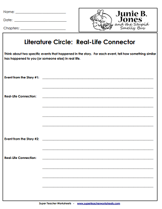 Junie B. Jones Book Worksheets