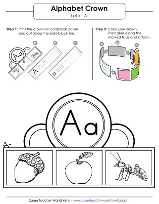Letter A Worksheets (Alphabet)