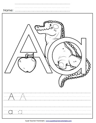 Printable Alphabet Worksheets (Letter A)