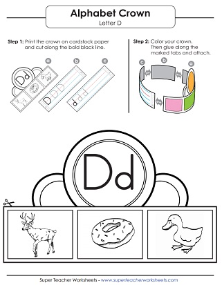 Letter D Worksheets Recognize Trace Print