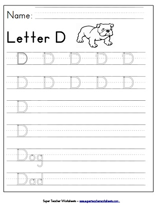 Letter Worksheets (Tracing/Writing)