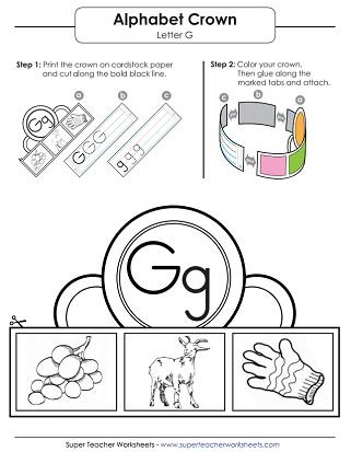 Letter G Worksheets - Recognize, Trace, & Print