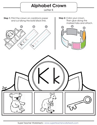 letter k worksheets recognize trace print. Black Bedroom Furniture Sets. Home Design Ideas