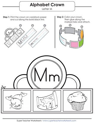 Letter M Worksheets - Recognize, Trace, & Print