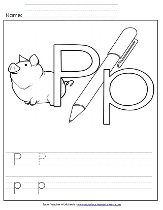 picture about Letter P Printable titled Letter P Worksheets - Fully grasp, Hint, Print