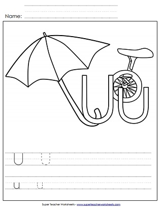 Letter u worksheets recognize trace print letter u worksheets altavistaventures Images