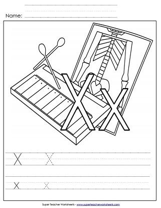 letter x worksheets recognize trace print. Black Bedroom Furniture Sets. Home Design Ideas