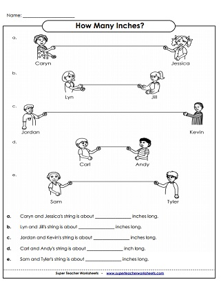 Measurement Worksheets: Yards, Feet, Inches