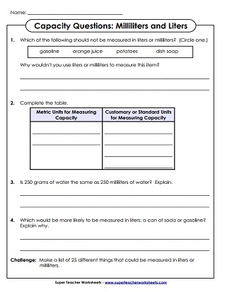 Spanish Family Tree Worksheet Pdf Measuring Capacity Milliliters And Liters Worksheets Maths Worksheets For Primary 5 with Exponential Form Worksheet Excel Measurement  Milliliters And Liters Worksheets Dichotomous Worksheet Excel