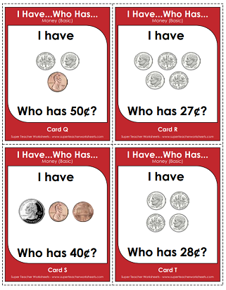 picture relating to Printable Coins Pdf called Counting Cash (Straightforward) Printables