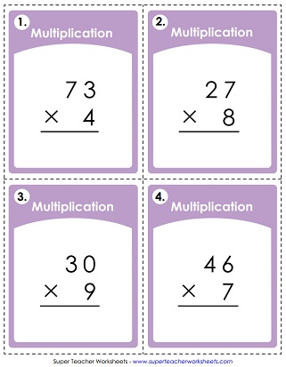 Multiplication Worksheets (2-Digit Times 1-Digit)