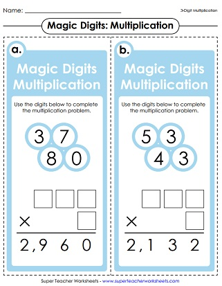 Multiplication Printables (3-Digits Times 1-Digit)