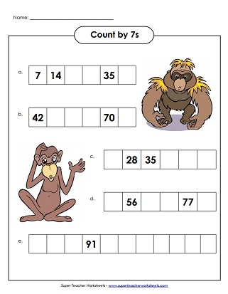 Multiplication Worksheets (Printable)