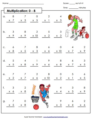 Multiplication Drill Worksheets (Printable)