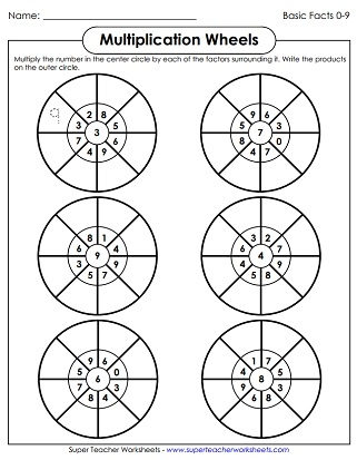 math worksheet : multiplication worksheets basic facts with factors of 9 : Multiplication Wheels Worksheets