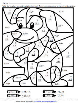 Easy Multiplication Coloring Pages. Multiplication Worksheets