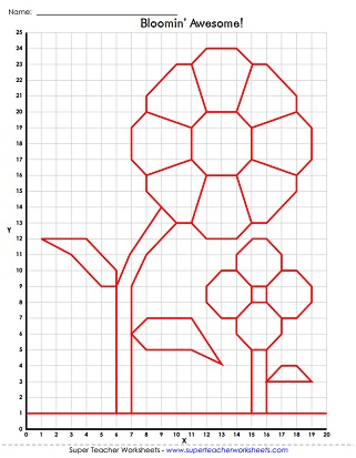 Ordered Pair Graph Art. Mystery Graph Picture Worksheet
