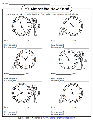 graphic about New Year's Worksheets Printable identified as Fresh new 12 months Worksheets