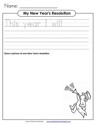 Teaching Kids About Money >> New Year Worksheets