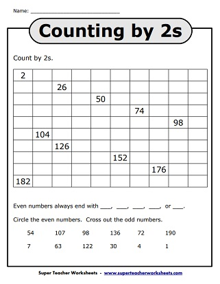 Even and Odd Numbers Worksheets