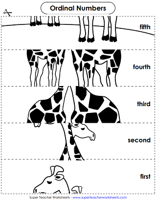 Ordinal Number Activity Worksheets