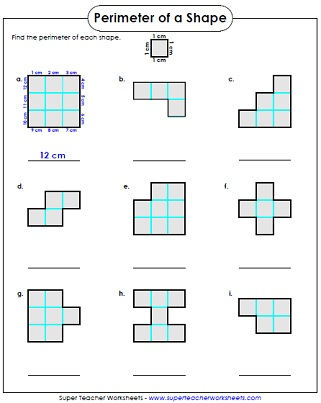 Number Names Worksheets teacher worksheets for free : Perimeter Worksheets