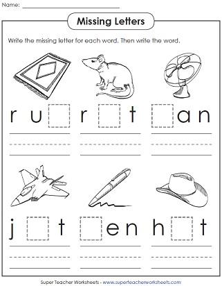 math worksheet : phonics worksheets cvc words : Fill In The Blank Worksheets For Kindergarten