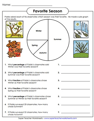 Pie Graph Worksheets Circle Graphs