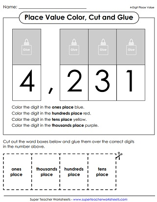 Place Value Worksheets Digit Numbers