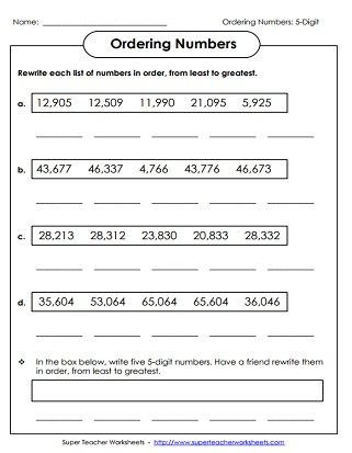 place value worksheets 5 digit numbers. Black Bedroom Furniture Sets. Home Design Ideas