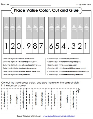 place value worksheets 7 digits or more. Black Bedroom Furniture Sets. Home Design Ideas