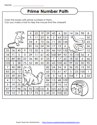Prime and Composite Numbers - Worksheets